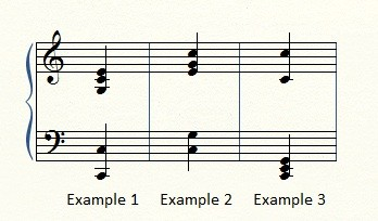 Ways to play a C-major chord